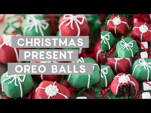 Christmas Present Oreo Balls