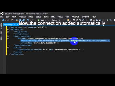 how to connect sql server 2014 to visual studio 2013