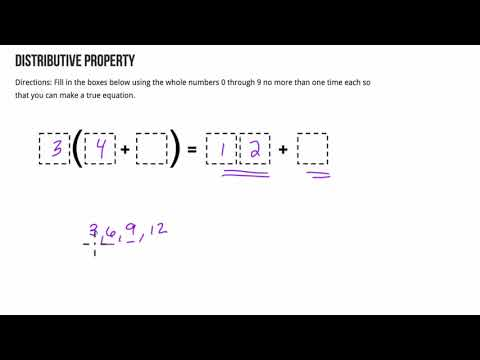 Open Middle Distributive Property 1