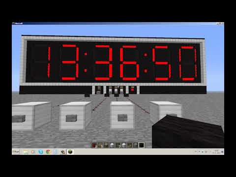 Minecraft: Digital Redstone Clock