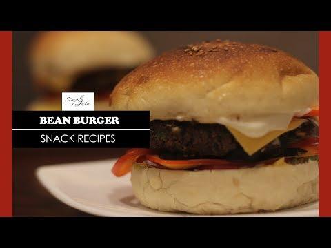 Bean Burger | How To Make Black Bean Burger Recipe | Snack Recipe | Simply Jain