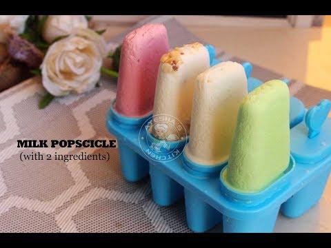 2 Ingredient Milk popsicle