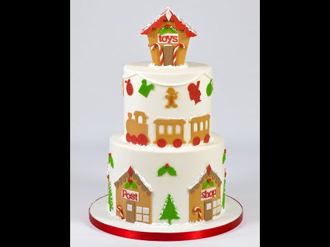 How to make a Fondant Gingerbread House Cake Topper - Ceri Badham
