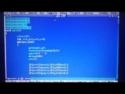 how to make square in turbo c++