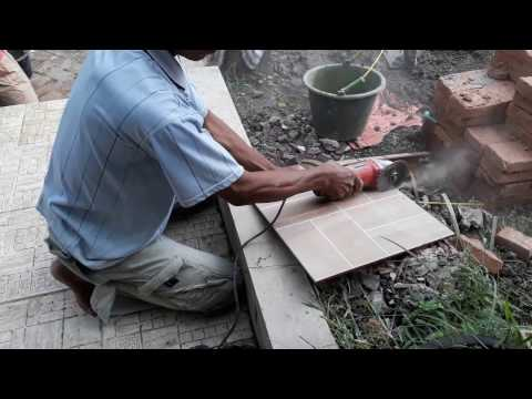 Youtube : Cutting Ceramics Tile with Dremel (Saw-Max), How to Cutting Ceramic Tile