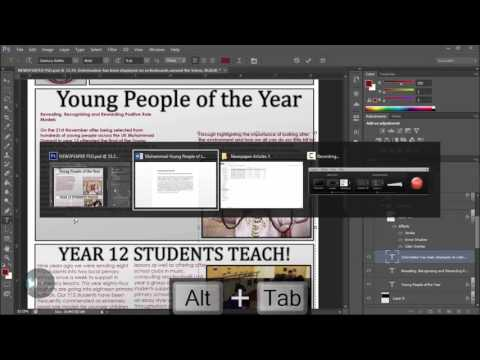 Tutorial:How To Make An Awesome Newspaper Template | Part 2 Manipulating Text and Graphics