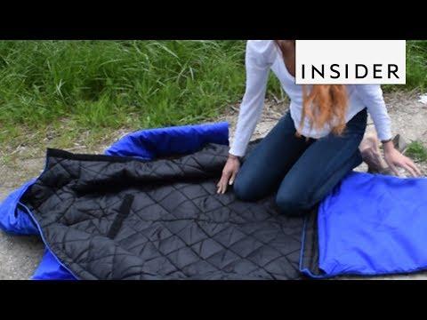 Coat Transforms Into A Sleeping Bag