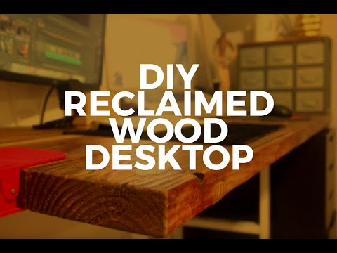 DIY Reclaimed Wood Desk Countertop