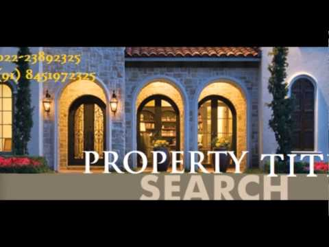 How to do Title search report,Property clearance,Title verification-Navi Mumbai-Thane-Mumbai
