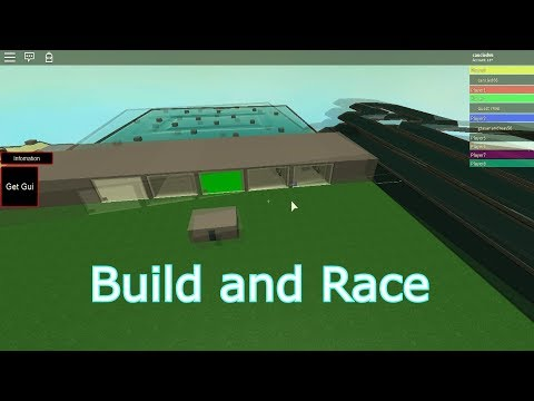 Roblox: Build and race Gameplay