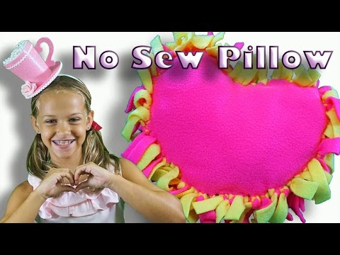 How to make a no sew tie pillow with fleece