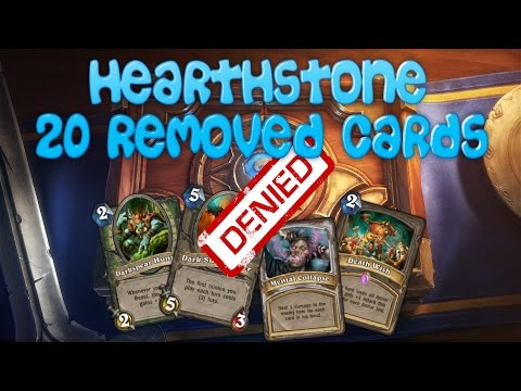 Hearthstone 20 cards that were removed