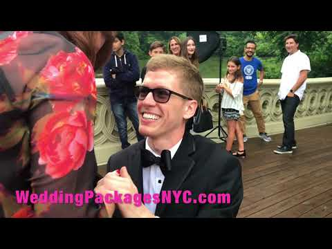Marriage Proposal in Central Park NYC organized by Wedding Packages NYC