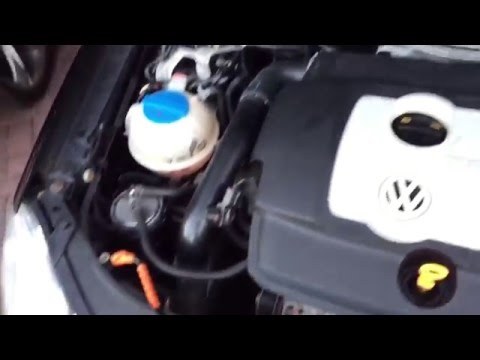 How to top up coolant level on VW Polo 2009