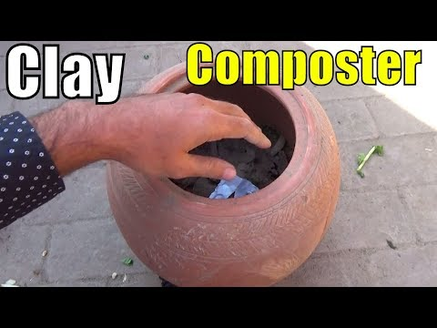673# how to Make Compost Without Bad Smell | Clay Pot Composter (Urdu/hindi)
