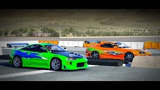 Forza 6: Fast and Furious - Toyota SUPRA vs. Mitsubishi ECLIPSE GS | Drag Race