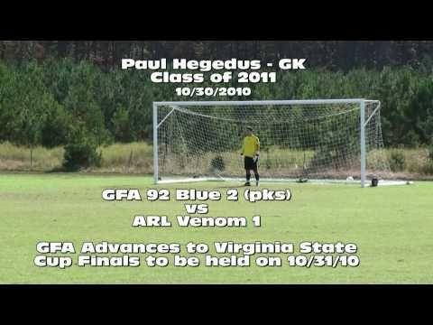 Paul Hegedus GK (2011) VA State Cup Semi  Finals