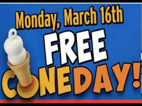 Free Cone Day Dairy Queen 2015