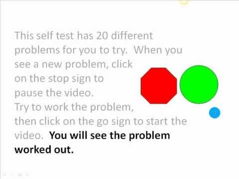 Basic Math Test #1