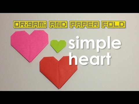 Paper Fold - Simple Heart Shape for Kids, Tweens & Teens - Traditional