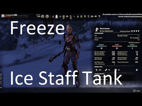[ESO] Freeze - Ice Staff Magicka Tank