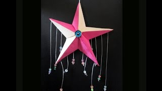 Home Made Star Wall Hanging/Origami 3d Star