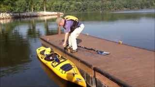 Launching a Kayak from a Dock