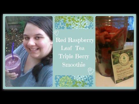 Red Raspberry Leaf Tea Triple Berry Smoothie