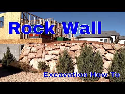 Excavation: intro to stacking rock walls