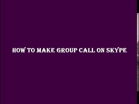 How To make group call on Skype