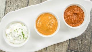 3 Chutney Recipes / Easy Dips & Sauces | Schezwan Sauce, Sesame Chutney and Eggless Milk Mayonnaise