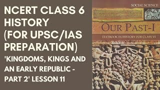 NCERT Class 6 History Chapters 5 to 8 Lesson 11 (for UPSC/IAS Preparation)