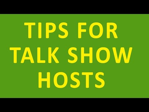 Tips for Talk Show Hosts & Interviewers