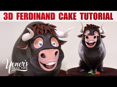 3D FERDINAND BULL CAKE Tutorial | Yeners Cake Tips with Serdar Yener from Yeners Way