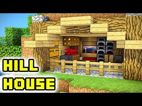 Minecraft Tutorial: Underground Hill Survival House Build