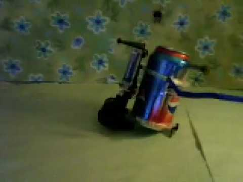 Soda Can Recycled Into a Tin Can Robot