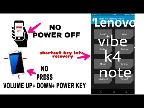 How to Shortcut enter into the recovery mode in Lenovo Vibe k4 note and other Android mobile.