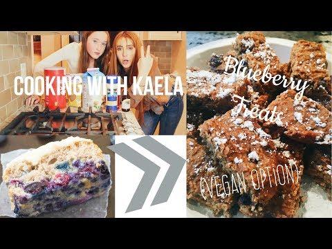 COOKING WITH KAELA: Healthy Blueberry Treats (Vegan Option) | Kaela Kilfoil