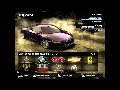 How to add cars on nfs most wanted 2005 +modloader