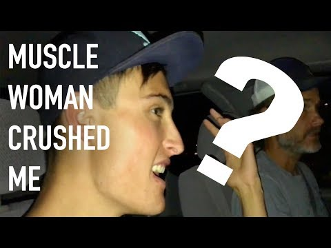 MUSCLE WOMAN CRUSHED ME!