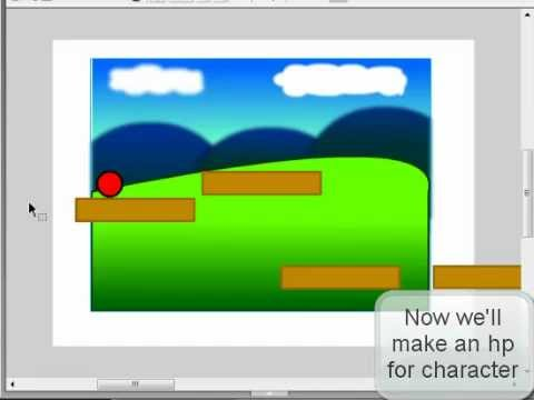 How to make a platform game in flash 8 part 4