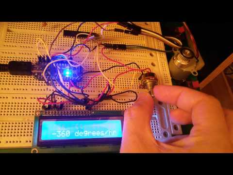 Potentiometer stepper motor control with 16x2 LCD