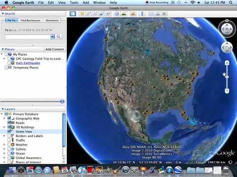 Creating Google Earth Homework Folder