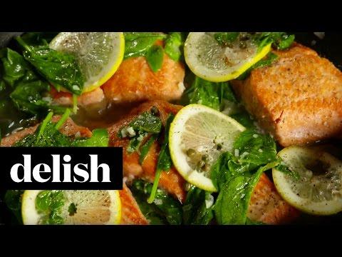 Garlic Lemon Salmon | Delish