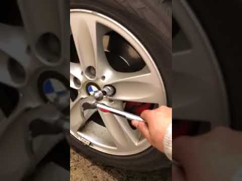 How to remove wheel locks without a Key- on BMW-part1