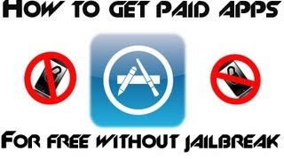 How To Get Paid Apps For Free Without Jailbreak On Iphoneipadipodtouc