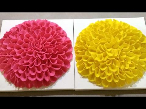 DIY FELT FLOWER FRAME DECOR