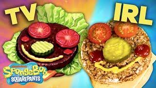 Making a Krabby Patty IRL 🍔 Plus BTS + BLOOPERS! | #SpongeBobSaturdays