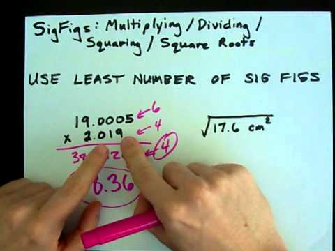 How to Find Significant Figures with Multiplying and Dividing