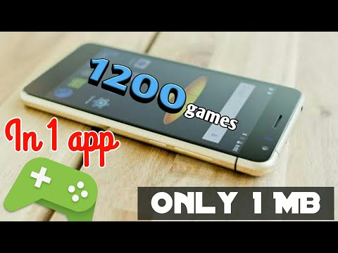 All in one app 1200 games in 1 app only 1 Mb | Android tutorial 2018